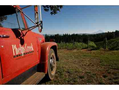 Phelps Creek Vineyard Tour, Tasting and More Wine