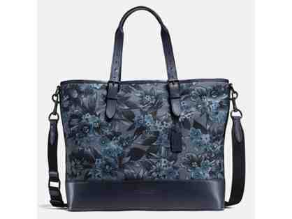 LOWERED! COACH MERCER TOTE IN FLORAL HAWAIIAN PRINT CANVAS - NWT