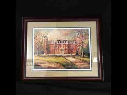 Old Main Print Matted and Framed