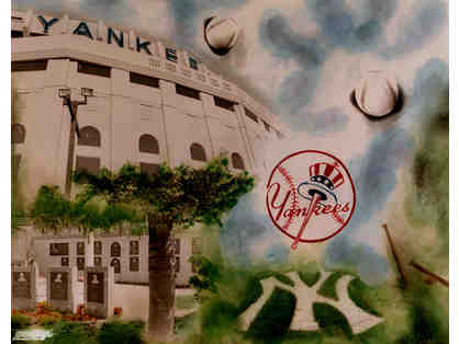 NY Yankee Licence photopainting open edition signed by artist