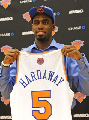 6c84e6f20e0 Tim Hardaway Jr. Autographed New York Knicks Jersey