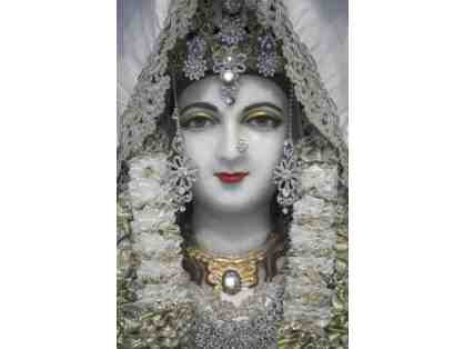 11x14 Print of Vishveshwari, The Divine Mother of Crestone - Closeup in White.