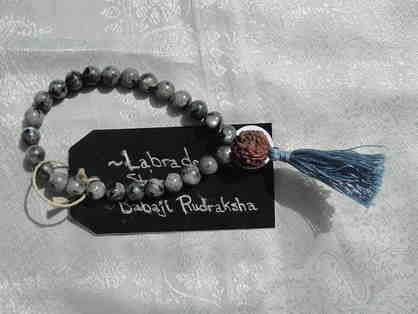 Wrist Mala with Rudraksha Bead from Shri Babaji's Mala and Labradorite Stones