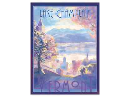Framed Vermont Watercolor Poster