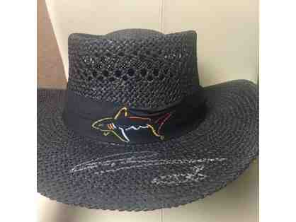 "Greg Norman Autographed ""Way of the Shark"", Greg Norman Collection Straw Hat, and Photo"