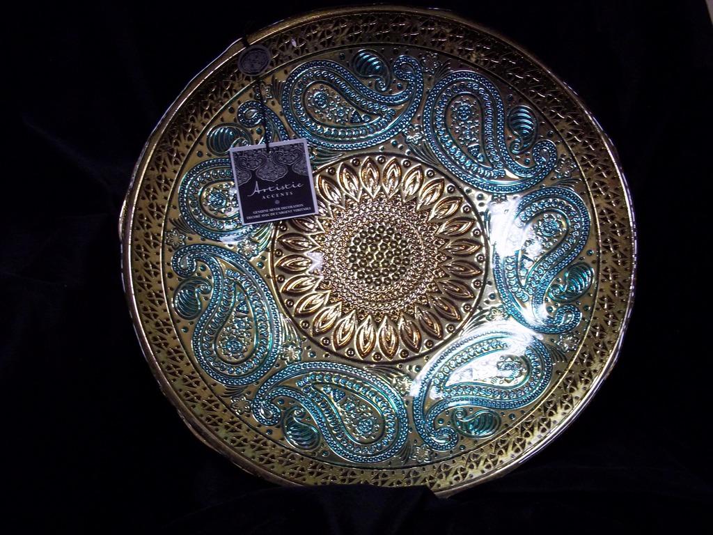 bg  mobile - artistic accents genuine silver  glass decorative bowl made in turkey