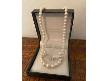 Pearls and Sterling Silver Necklace and Earring Set
