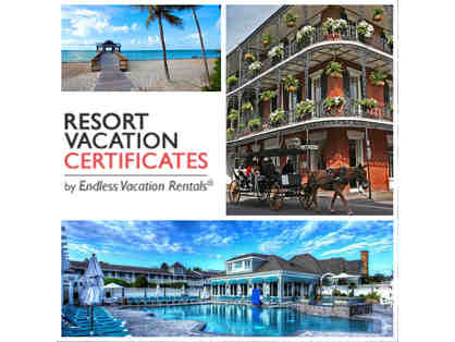 Seven Nights Resort Vacation Certificate