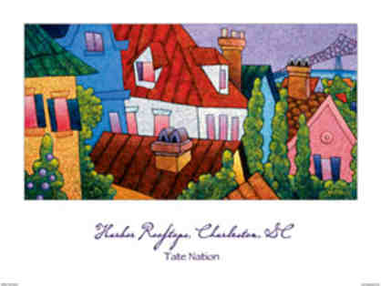 """Harbor Rooftops"" - Signed Tate Nation Print"