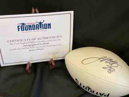 New England Patriots James White Autographed Football