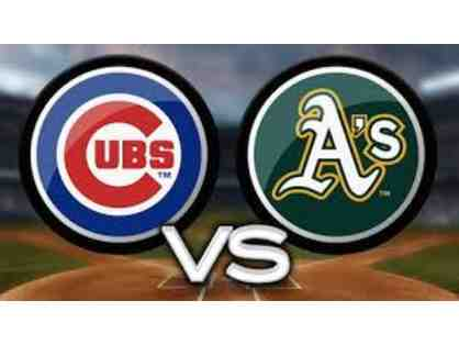 2 Tickets to Chicago Cubs @ Oakland A's