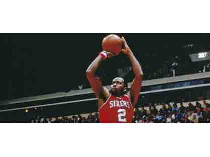 Moses Malone Autographed Print