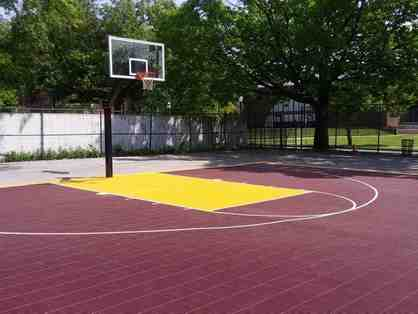 Custom Painted Basketball Court by My Backyard Sports