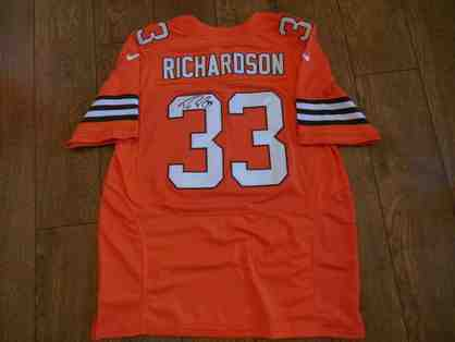 Trent Richardson Autographed Orange Nike Cleveland Browns Jersey