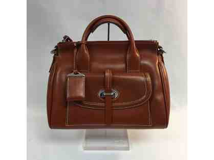 Dooney & Bourke Florentine Toscana Front Satchel in Brown