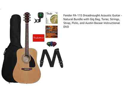 Fender FA-115 Dreadnought Acoustic Guitar and Accessories!