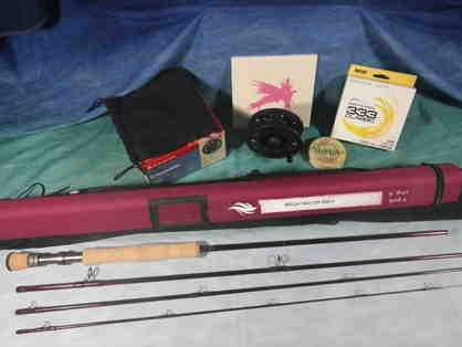 Fly Rod/Reel Combo. Fish Creek Brightwater 890-4, Crosswater Reel, WF8F & backing