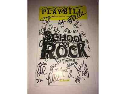 School of Rock Cast Autographed Playbill