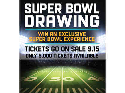 Book of FIVE (5) Opportunity Drawing Ticket for (2) VIP SuperBowl LII Tickets and Package!