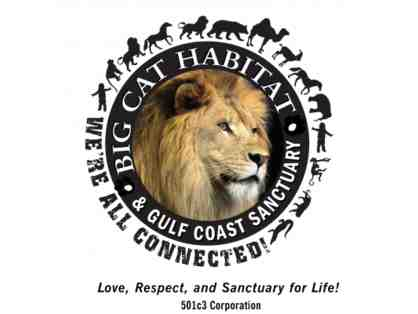 Big Cat Habitat and Gulf Coast Sanctuary - Gift Certificate for 4