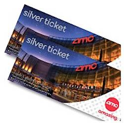 Gift Card Tix Movies AMC Package W 1 Silver Ticket And A 15