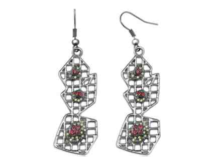 Beautiful Unique Dangle Earrings from the Zigiline at Gem Stone King