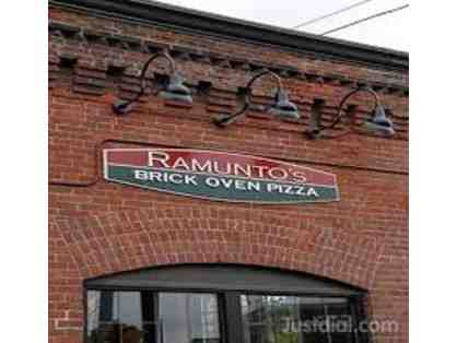 Ramunto's Brick Oven Pizza Gift Certificate - One Free 16 Inch NY Cheese Pizza