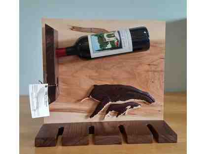 Hand Crafted Humpback Whale Wine Rack