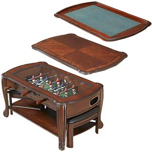 BG Mobile - Foosball coffee table with stools