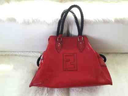 Limited Edition Red Patten Leather Large Fendi Satchel