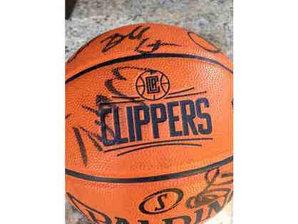 LA Clippers 2016-17 Team Autographed Basketball