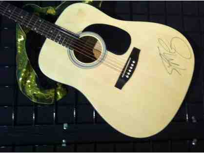 Guitar autographed by Scotty McCreery