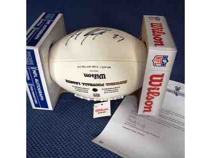 New England Patriots Superbowl winner, Rob Gronkowski Autographed Football