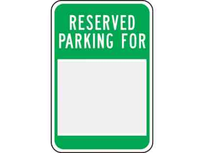 Reserved Parking Spot at EGRHS - 2019/20 School Year