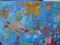 Butterfly Garden Painting by Red Rose Kindergarten