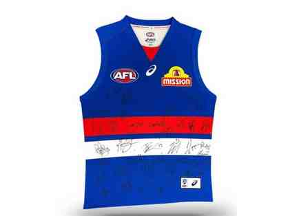 2019 Western Bulldogs AFL signed jersey- Framed