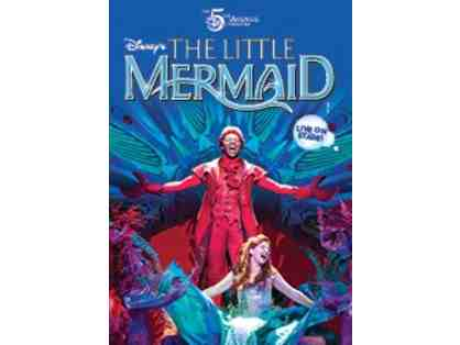 2 opening night tickets to The Little Mermaid at the Fox Theatre.