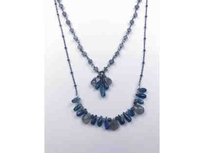Kyonite and Labrodorite Necklace