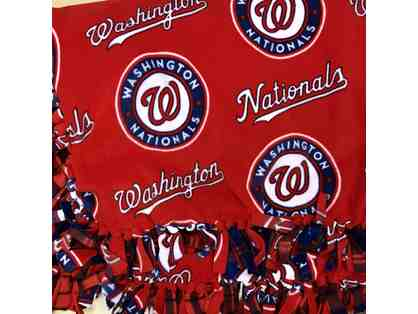 Washington Nationals Handmade Fleece Blanket