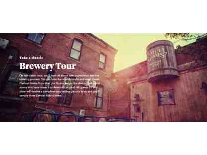 Boston Beer Co/ Sam Adams Brewery Tour for 20 and Merchandise