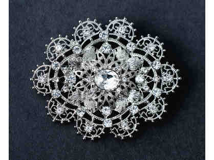 Silver Plated Brooch