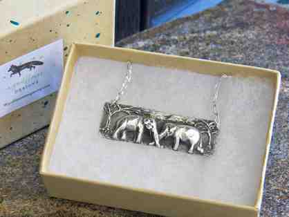 Maia & Guida Silver Pendant Necklace commissioned by GSE - one of a kind!
