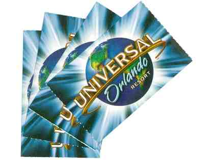Universal Orlando: FOUR (4) 1-day Park Passes