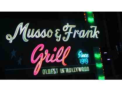 Dinner at Musso & Frank