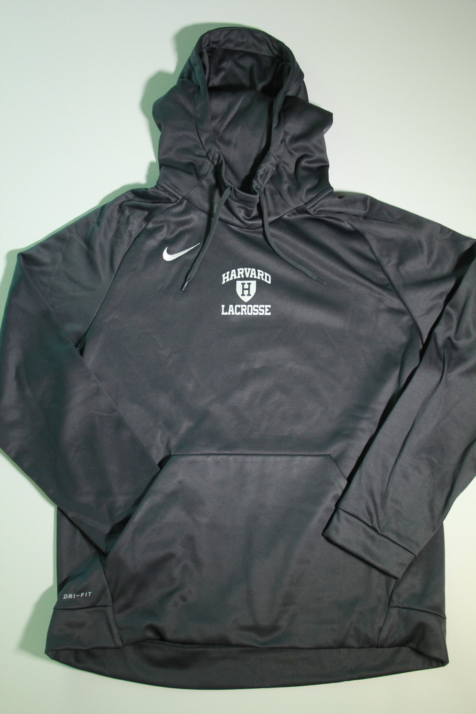 de76ed376cd0 Harvard Lacrosse Grey Nike Dri-Fit Hooded Sweatshirt