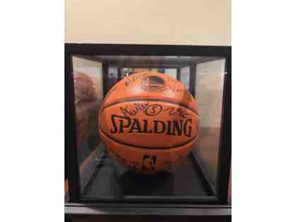 2016-17 Golden State Warriors Autographed Basketball in Display Case