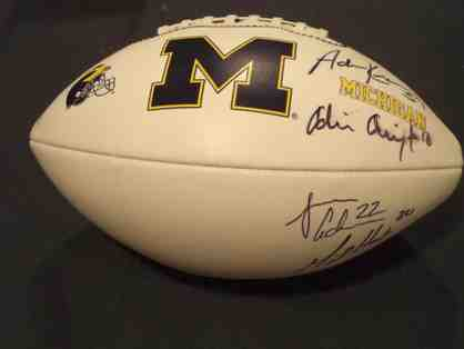 Chad Henne, Mike Hart Jamar Adams, Adrian Arrington, and Adam Kraus auto Michigan football