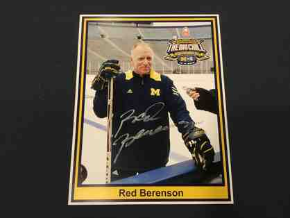Red Berenson autographed photo from Big Chill at the Big House