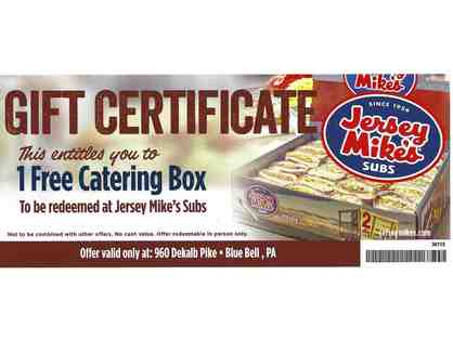 Jersey Mike's Subs - One Free Catering Box