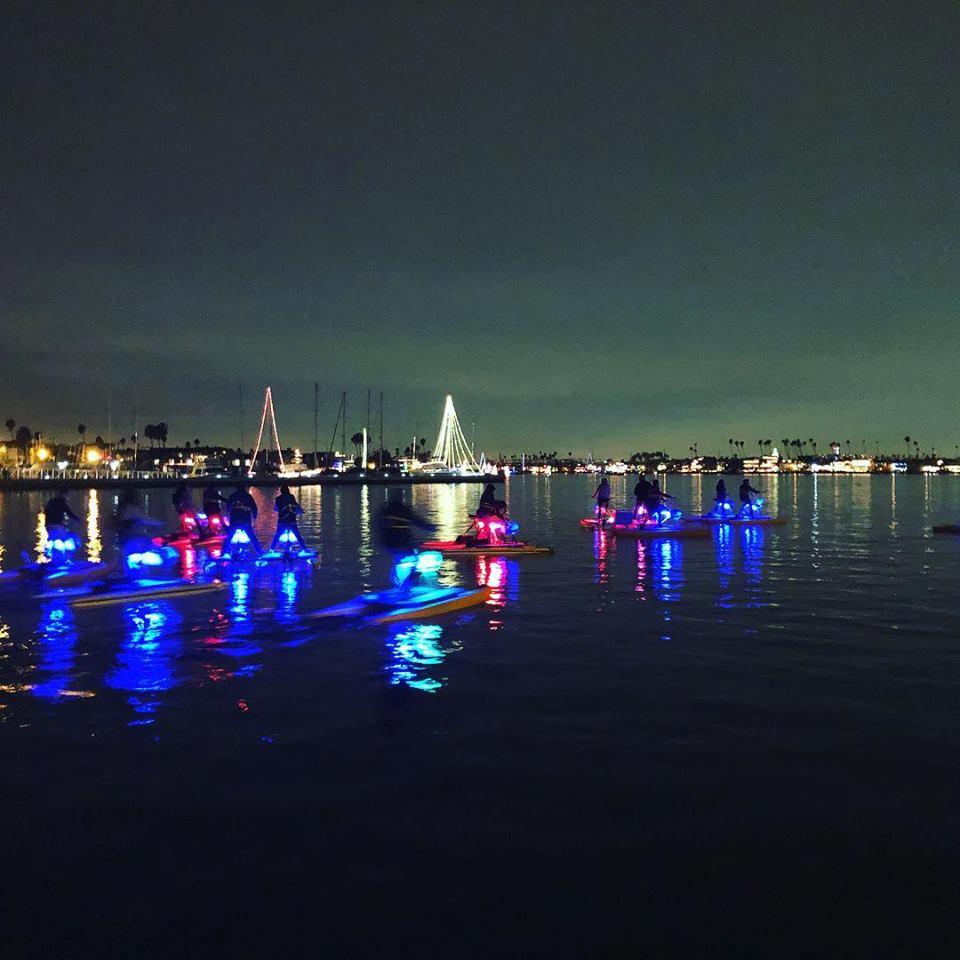 Long Beach Waterbikes 2 Glow Ride Tickets Led Light Night Hydrobike